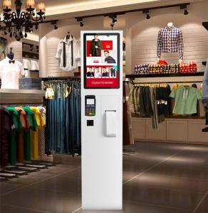 China High Brightness Digital Signage Totem , 22 Inch Touch Screen Kiosk Self Service Machine on sale