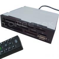 3.5 Inch IR Internal Card Reader (MMC/RS + MS(3 in 1) + CF + Smart Card + USB + IR Receiver) - (ZW-13015)