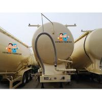 China Tri Axle ABS Locking Mild Steel 40t Cement Bulker Trailer on sale