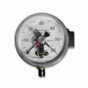 China 230V Electric Contact Pressure Gauge, Suitable for Audible or Visible Alarms on sale
