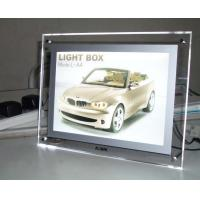 China Lighting Clear Advertising Acrylic Photo Frames With LED Light on sale