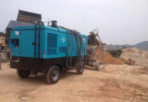 China Cummins Engine Portable Diesel Screw Compressor High Efficiency 790Cfm 265Psi on sale