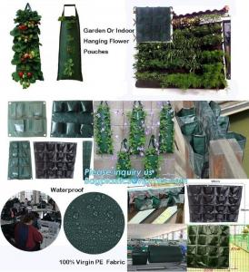 China folding retain moisture, indoor outdoor high quality hanging flower bags,4 Pockets Permeable Non-woven fabric 26x65cmx1m on sale