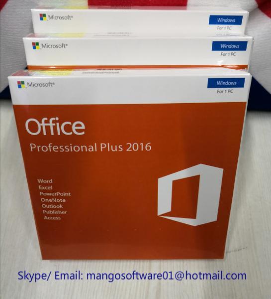 Pro Plus 32/64 Bit Office 2016 Retail Box Retail License Key