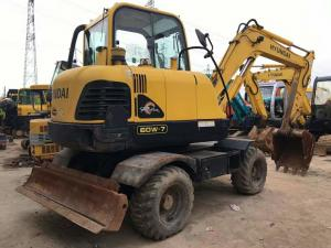 China Hyundai R60W-7 Used Mini Excavator Machine , Second Hand Wheel Excavators For Sale on sale