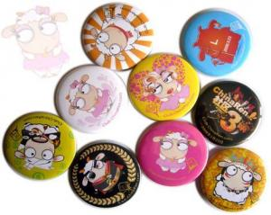 China Beads cartoon 3D, Nickel-Free Round Technics promotional tinplate pin round button badge on sale