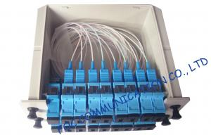 China SC / UPC fiber optic splitter telecom Cassette Box Type / Rack Mount optical splitter on sale
