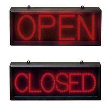 China Big Horizontal LED Open Sign Neon Business Motion Light Black Frame Display on sale