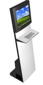 China Internet, Exhibition, Information Kiosks Slim Sleek Touchscreen Kiosk With Keyboard on sale
