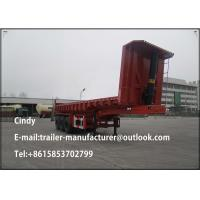 China 40T 3 Axles Rear Dump Semi Trailer Tipper Truck Trailer For Stones Transport on sale