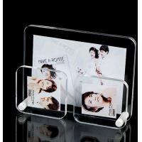 Black Pretty Clear Acrylic Photo Frame / Wedding Photo Frame Standard Size
