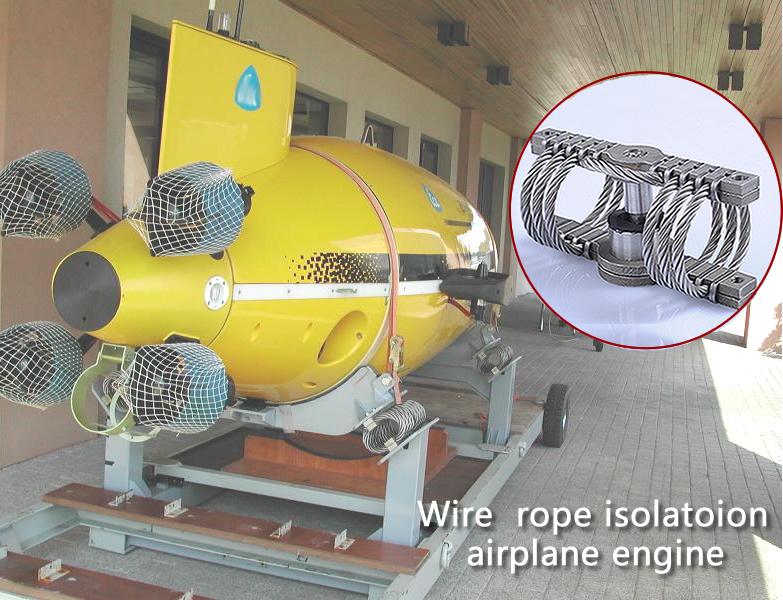 vibration isolatoion of airplane engine