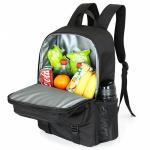 Soft Insulated backpack food delivery lunch bag large capacity fresh storage food   for picnic