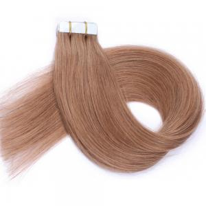 China 100 Human Hair Tape In Extensions , Tape Weft Hair Extensions No Shedding on sale