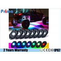 China RGB LED Rock Lights Multicolor Neon LED Light, Timing, Flashing, Music Mode for Underglow Off Road Truck SUV - 8 Pods on sale