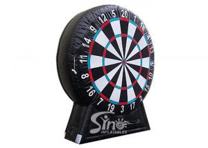China Giant inflatable soccer dart board with stand made with pvc tarpaulin material on sale
