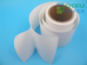 China self adhesive thermal barcode sticker label paper material jumbo roll on sale