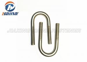 "Quality Pipeline Installation Stainless Steel Round U Bolts 1/2 "" Diameter Standard for sale"