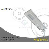 Anti-Wind LED Road Light All In One Lighting System / Solar Street Lamp With Li Battery