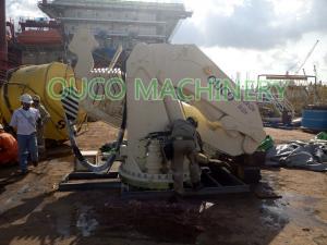 China Knuckle Telescopic Boom Hydraulic Winch Marine Crane on sale