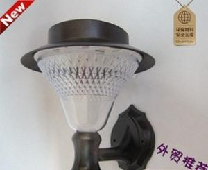 China 8 high brightness led solar lamp, solar wall lamp courtyard lamp outdoor lamp on sale