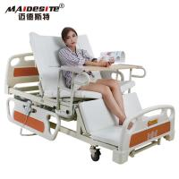 Healthcare Back Lift And Leg Rest , Turn Over Electric Home Beds With Toilet