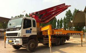China Euro 3 37m Truck Mounted Concrete Pump With Placing Boom CCC Standard on sale
