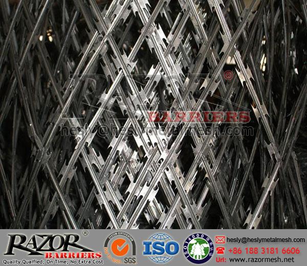 150X300mm Stainless Steel Diamond Razor Mesh Fence