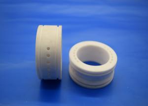 China Ivory Color Alumina Zirconia Ceramic Bushing Parts Aluminua Liner / Linear Guide on sale