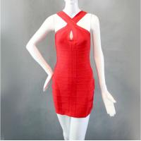 Keyhole Red Short Sleeveless Sexy Evening Gowns Fashion Ladies Dresses