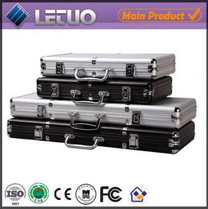 China 500 poker chip case aluminum case leather poker chip case on sale