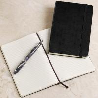 China custom leather agenda book with elastic band for gift on sale