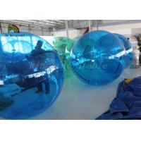2m Dia Blue PVC Inflatable Walk On Water Ball Customized For Kids And Adults