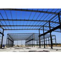 Glass Cover Steel Frame Greenhouse , Galvanized Steel Greenhouse Frame Studdy