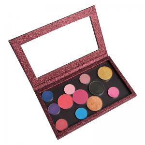 China Makeup Cosmetics Custom Eyeshadow Palette Magnetic Multi Colors Longlasting on sale