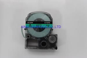 China AC12GW BLACK ON GREEN LABEL TAPE REPLACEMENT FOR EPSON SC12RW on sale