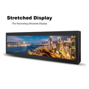 China Commercial Stretched Wall Mount Lcd Display 28 Inch 697.7 * 130.7mm For Subway on sale