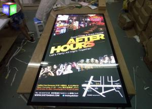 China Wall LED Advertising Light Boxes Backlit Movie Poster Frame UV Machine Printing on sale