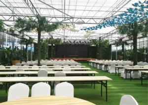 China PC Sheet Cover Material Modular Greenhouse Durable With Cooling System on sale