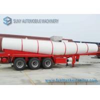 V Shape Chemical Oil Tank Trailer 3 Axles 20000 L Acid Tank Semi Trailer