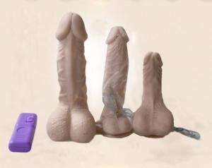 China high quality artificial silicone penis with vibrator on sale