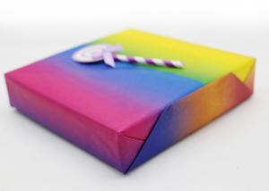 China Rainbow Colour Printed Wax Paper Sheets Single Side Coating For Decoration on sale