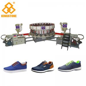 China Single / Double Color Soles PVC Shoes Making Machine For Sneaker Outsoles Winter Shoes on sale