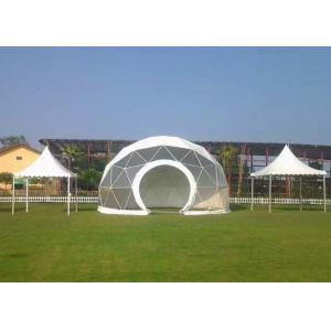 China Aluminum Frame Large Geodesic Dome Tent Lightest 8m Diameter With White PVC on sale