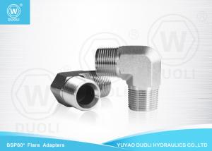China Carbpn Steel BSPT Male Thread Hydraulic Reducing Nipple Pipe Fitting 90 Degree Elbow on sale