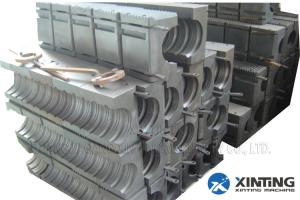 China Round Plastic Pipe Manufacturing Machine, Corrugated Pipe Line With Block on sale