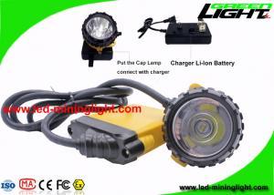 China Ultra Bright 348 Lum Waterproof Miner Cap Lamp with 10.4 Ah Big Battery Capacity on sale