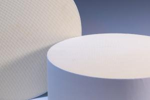 China Industrial SCR Honeycomb Ceramic Filter Round And White on sale