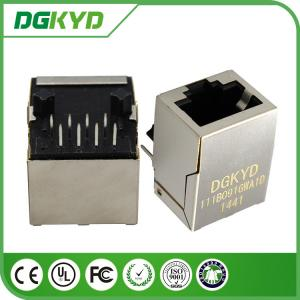 China Ethernet Cat6 rj45 Female Jack Shielded Connectors with Vertical magnetics 1:1.414 on sale