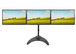 China Steel Structure LCD Triple Monitor Stand Arm 15''-27'' VESA 100X100 DT6-9E3 on sale